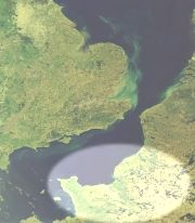 Satellite view of Normandy
