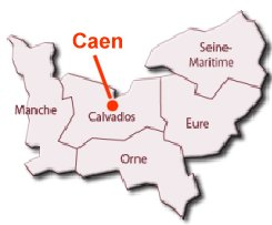 Location of Caen